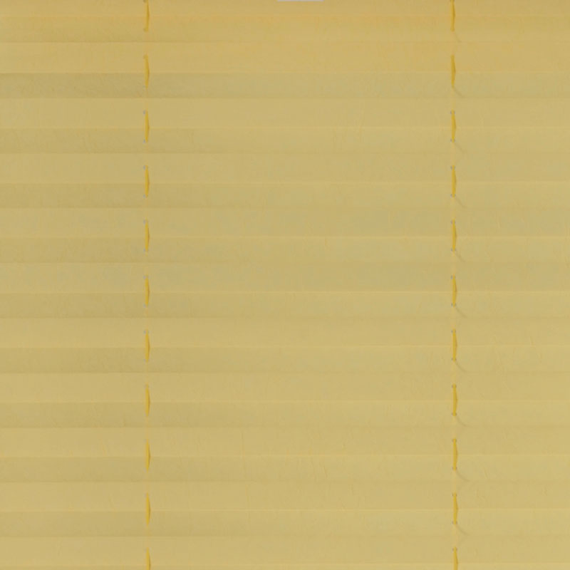 Plisségordijn gespannen - Lichtdoorlatend - Geel - 40cm x 130cm
