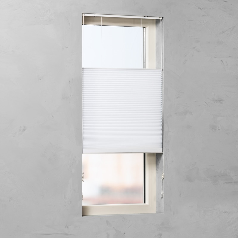 pliss gordijn wit 90cm x 240cm