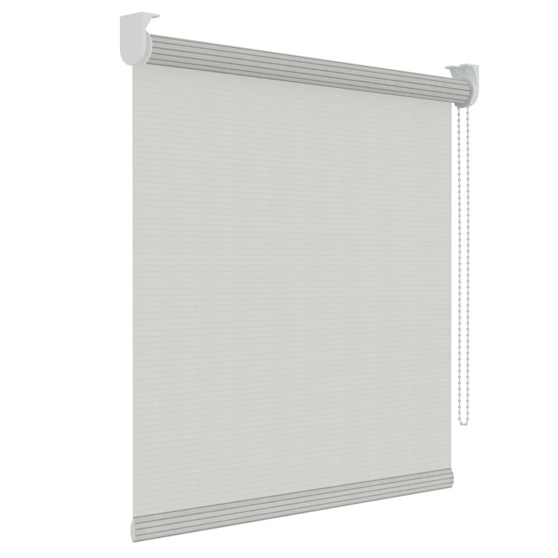 rolgordijn structuur wit streep lichtdoorlatend 45cm x 190cm