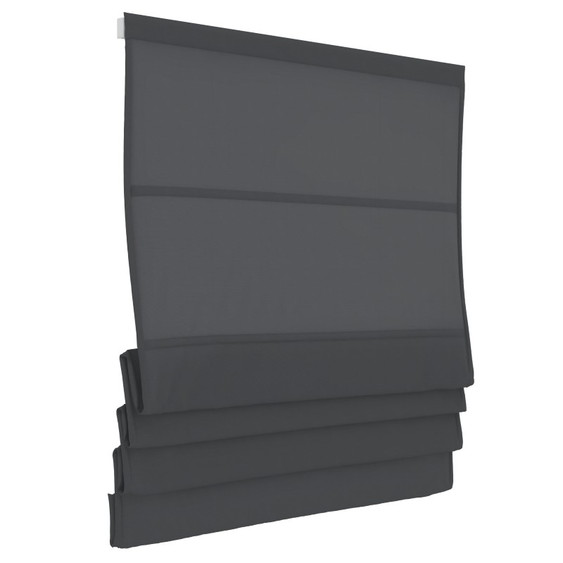 Vouwgordijn - Antraciet - Lichtdoorlatend - 180cm x 180cm