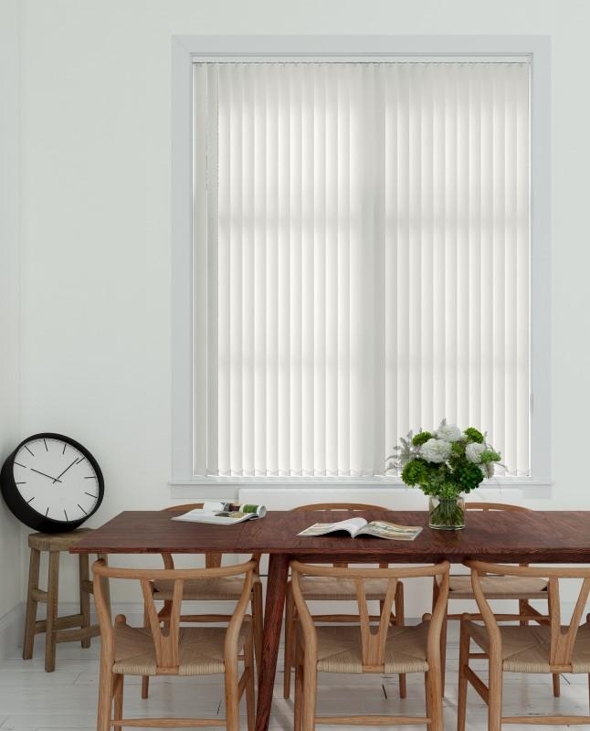 Verticale lamellen PVC 89mm - Wit - 150cm x 180cm
