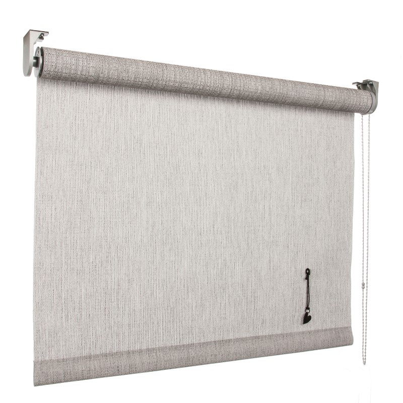 vtwonen rolgordijn structuur mist light grey lichtdoorlatend 150cm x 190cm