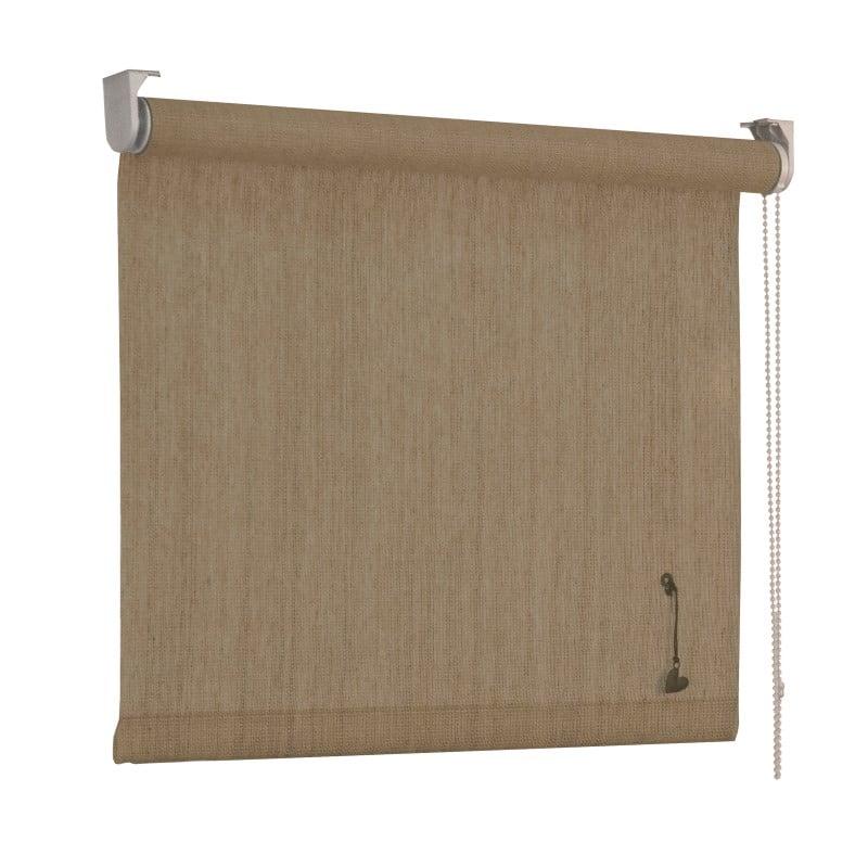 vtwonen Rolgordijn structuur - Zand streep - Lichtdoorlatend - 90cm x 190cm