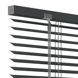 Aluminium jaloezie 25mm - Antraciet - 100cm x 180cm