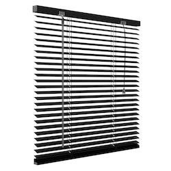 Aluminium jaloezie 25mm - Mat zwart - 60cm x 130cm