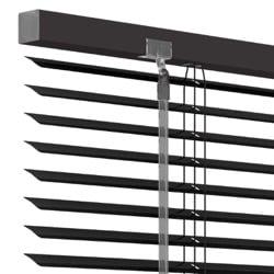 Aluminium jaloezie 25mm - Zwart - 120cm x 180cm