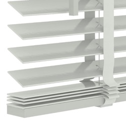 Houten jaloezie 50mm - Wit - 220cm x 220cm