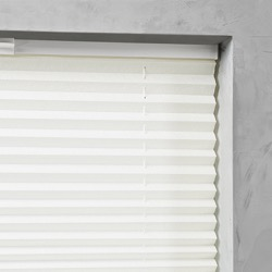 Plisségordijn gespannen - Lichtdoorlatend - Gebroken wit - 40cm x 130cm