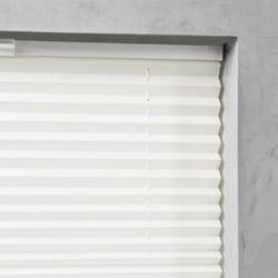 Plisségordijn gespannen - Lichtdoorlatend - Gebroken wit - 65cm x 130cm