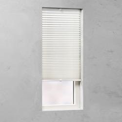 Plisségordijn gespannen - Lichtdoorlatend - Gebroken wit - 80cm x 130cm