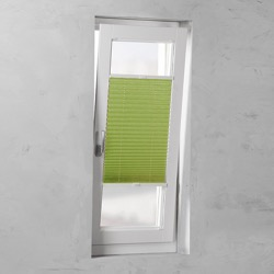 Plisségordijn gespannen - Lichtdoorlatend - Groen - 40cm x 130cm