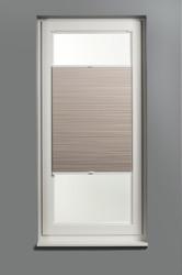 Plisségordijn dubbel gespannen - Verduisterend - Zand - 80cm x 130cm