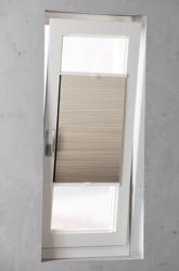 Plisségordijn dubbel gespannen - Verduisterend - Zand - 90cm x 130cm