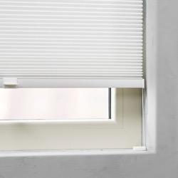 Plisségordijn dubbel gespannen - Lichtdoorlatend - Wit - 40cm x 130cm