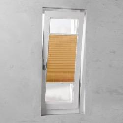 Plisségordijn gespannen - Lichtdoorlatend - Oranje - 40cm x 130cm