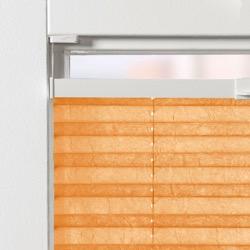 Plisségordijn gespannen - Lichtdoorlatend - Oranje - 70cm x 130cm