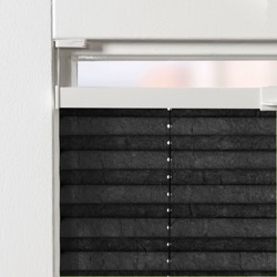 Plisségordijn gespannen - Lichtdoorlatend - Raven Grey - 40cm x 130cm