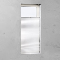 Plisségordijn gespannen - Lichtdoorlatend - Wit - 65cm x 130cm