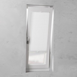Plisségordijn gespannen - Lichtdoorlatend - Wit - 60cm x 130cm