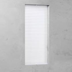 Plisségordijn gespannen - Lichtdoorlatend - Wit - 110cm x 130cm