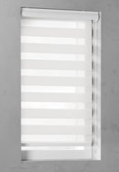 Duo Rolgordijn - Gebroken wit - Lichtdoorlatend - 90cm x 130cm