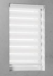 Duo Rolgordijn - Gebroken wit - Lichtdoorlatend - 100cm x 130cm