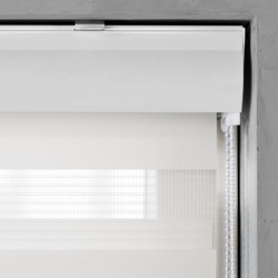 Duo Rolgordijn - Gebroken wit - Lichtdoorlatend - 110cm x 240cm