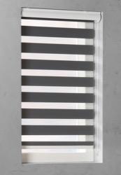 Duo Rolgordijn - Grijs - Lichtdoorlatend - 80cm x 175cm