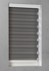 Duo Rolgordijn - Grijs - Lichtdoorlatend - 90cm x 175cm