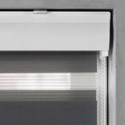 Duo Rolgordijn - Grijs - Lichtdoorlatend - 40cm x 175cm