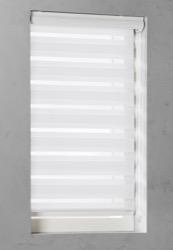 Duo Rolgordijn - Wit - Lichtdoorlatend - 80cm x 175cm