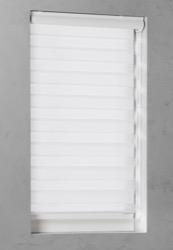 Duo Rolgordijn - Wit - Lichtdoorlatend - 90cm x 130cm