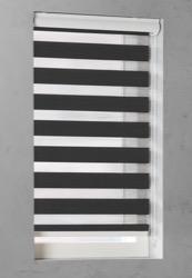 Duo Rolgordijn - Zwart - Lichtdoorlatend - 80cm x 175cm