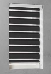 Duo Rolgordijn - Zwart - Lichtdoorlatend - 130cm x 175cm