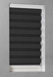 Duo Rolgordijn - Zwart - Lichtdoorlatend - 140cm x 175cm