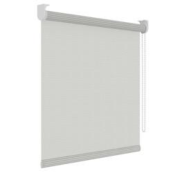 Rolgordijn structuur - Wit streep - Lichtdoorlatend - 150cm x 190cm