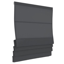Vouwgordijn - Antraciet - Lichtdoorlatend - 80cm x 180cm