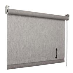vtwonen Rolgordijn structuur - Storm dark grey - Lichtdoorlatend - 150cm x 190cm