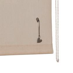 vtwonen Rolgordijn structuur - Zand - Lichtdoorlatend - 150cm x 190cm