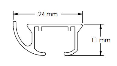technische tekening KS gordijnrails